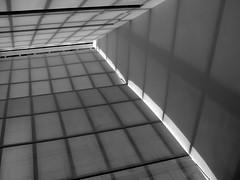 Shadow Patterns on the Walls (Trish Mayo) Tags: light blackandwhite bw newyork shadows manhattan walls museums metropolitanmuseum linescurves metropolitanmusemofart