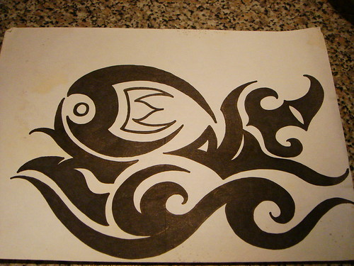 Tribal Tattoos Design Unique Fish Tribal Tattoos Design