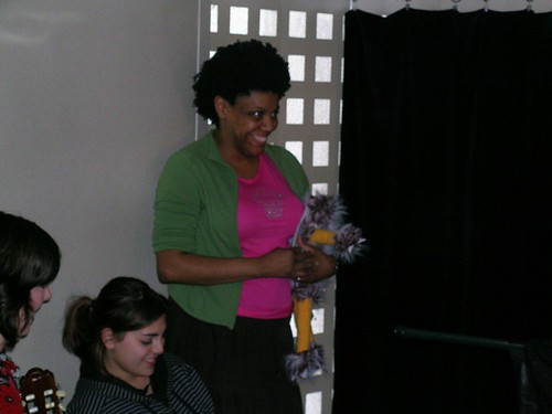 Nichelle Stephens and puppet