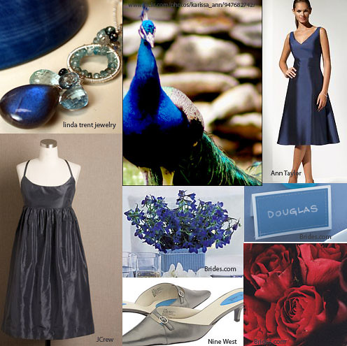 Keywords wedding blues weddings peacock blue gray palette red roses
