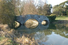 Bridge between Waverley Abbey house and the Abbey