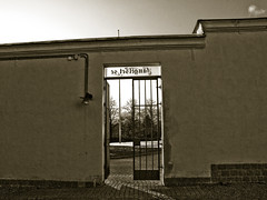 Prison gates are open (gothicburg) Tags: sepia hope bars prison inside lookingout fängelse härlanda