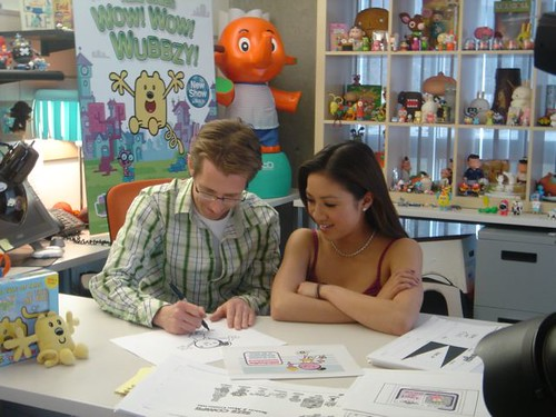 """Wow! Wow! Wubbzy!"" creator Bob Boyle and Michelle Kwan"