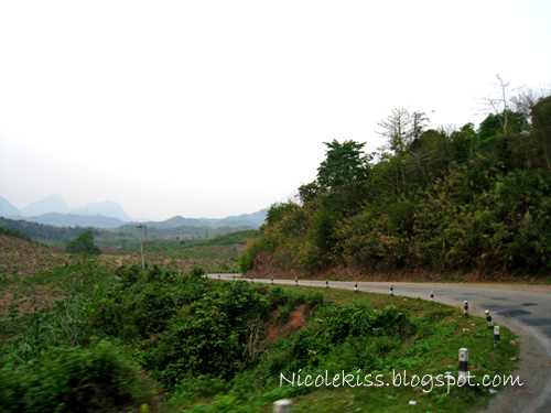 windy road in laos