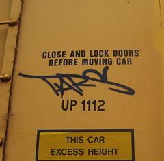 TARS (The Steel Chariot) Tags: railroad train graffiti pacific graf union tags graff burner tagging freight bombing tars