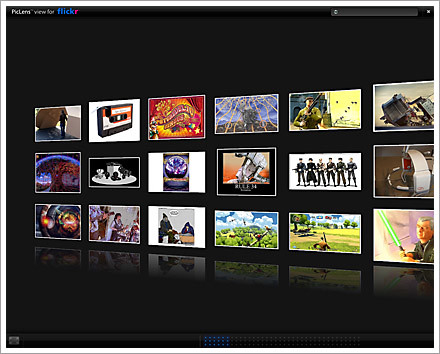 piclens flickr photostream photo wall screenshot