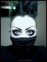 Ninja_ (unforgivendecay) Tags: bug eyes cross ninja gothic goth fohawk unforgivendecay neumorin