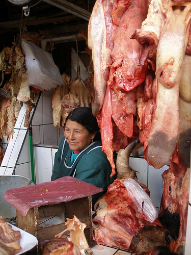 Cusco Cuzco Peru market meat cow beef tongue
