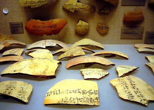 Ancient Egyptian Pottery Fragments by GGNYC on Flickr