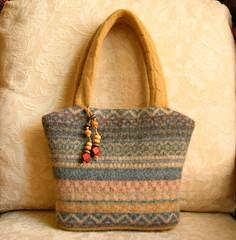 spring color mix handbag (FeltSewGood) Tags: sewing crafts purse etsy recycle handbag ecofriendly fulledwool upcycle feltedwool recycledsweater woolsweater feltsewgood