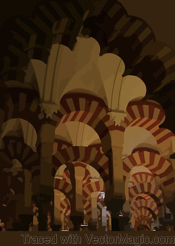 Mezquita columns with vector magic