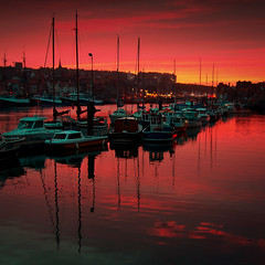 Whitby Marina (Paul M. Robinson) Tags: sunset sea marina boats coast nikon d70 harbour tokina whitby 1224mm northyorkshire