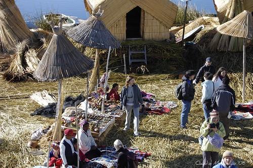 Isla flotante, Titicaca por Claudio Musacchio.