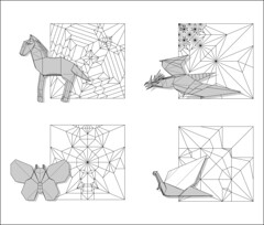 Recent diagrams (Mdanger217) Tags: max danger origami horse dragon v11 butterfly snail diagrams inkscape
