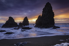 Seastacks at Sunset (pixelmama) Tags: rodeobeach goldengatenationalrecreationarea nationalpark ggnra marin visitmarin seascape sunset findyourpark