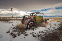 Truth In Part (Wayne Stadler Photography) Tags: winter worktruck trucks truck mountains rust nevada rural rustographer snow northern prairies vintage ruins derelict wreckage february rusty rustography abandonment antique abandoned cold field
