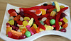 2017 lolly dish (dominotic) Tags: 2017 sydney australia mixedlollies sweets lolly candy confectionery food partylolly jellybean banana lollyteeth jellysnake muskstick jubes redfrog