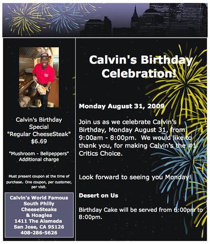 Calvins Birthday Special