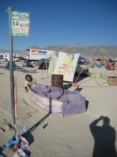 AC Transit bus stop at Burning Man