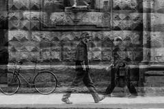 Virtual Meetings (guido.masi) Tags: street blackandwhite bw white black digital canon eos florence doubleexposure streetphotography masi bn firenze bianco nero guido biancoenero guidomasi
