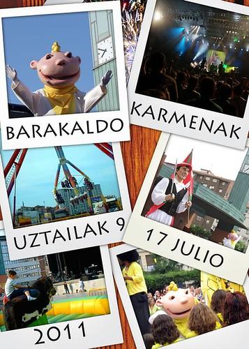 Cartel 10. Concurso Carteles de Fiestas de Barakaldo 2011