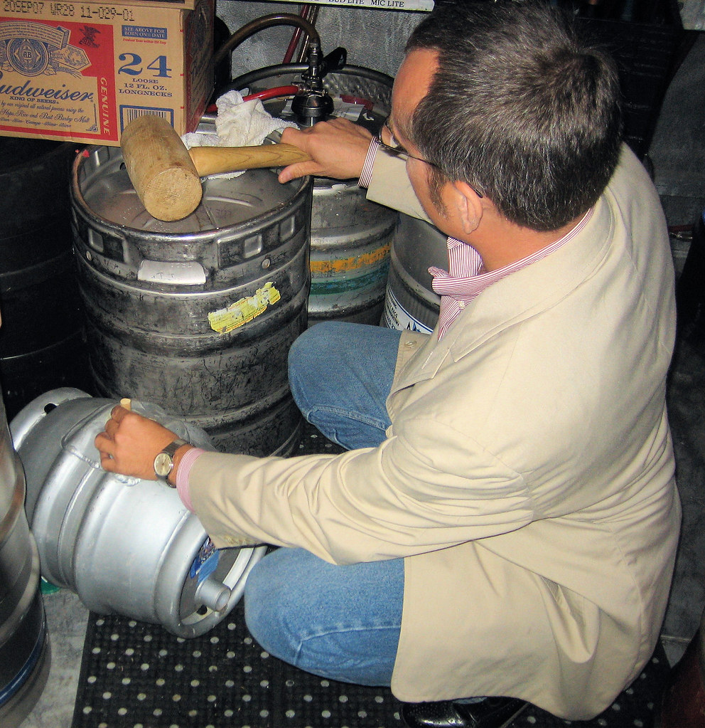 Cizauskas prepares to vent a cask Of Winter Storm