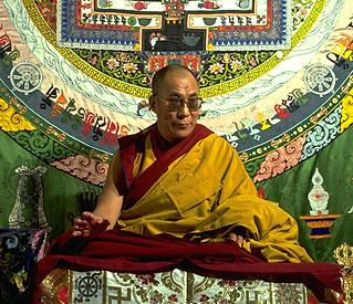 Dalai Lama Meditating