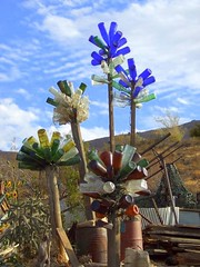 Bottle Tree Garden (stars4esther) Tags: california mine desert bottles postoffice socal mojave ghosttown historical southerncalifornia cobalt glassbottles spiritcatcher kerncounty bottletrees randsburg randdistrict stars4esther