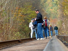 Creek Falls Hike Train Track