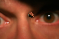 Waterdrop Self-Portrait (laszlo-photo) Tags: selfportrait macro me water self waterdrop blueribbonwinner aplusphoto waterdroplens