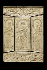 Front Cover of the Lorsch Gospels, Aachen, about 810. Museum no. 138-1866.