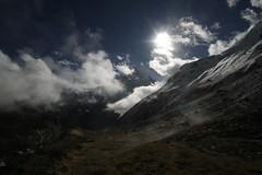 sunrising.. (jhnhtt) Tags: travel nepal trekking hike backpacking abc himalaya trial