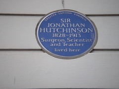 Photo of Jonathan Hutchinson blue plaque
