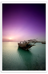 Toward the Sun (Hussain Shah.) Tags: sunset sun port d50 boat wooden nikon ship sigma kuwait 1020mm stacks doha cokin gnd8 abigfave aplusphoto