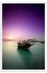Toward the Sun (Hussain Shah.) Tags: sunset sun port d50 boat wooden nikon ship sigma kuwait 1020mm stacks doha cokin gnd8 abigfave aplusphoto