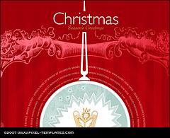Christmas Card Template / Xmas Card Design Template by mediaVinci