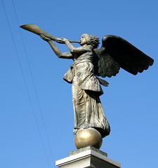 musical angel (AnyMotion) Tags: travel sculpture 2004 statue reisen lithuania vilnius litauen anymotion