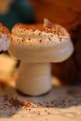 Buche de Noel - Meringue Mushroom