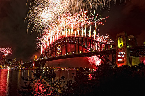 Sydney New Year's Eve Fireworks Midnight