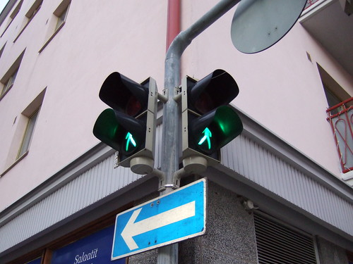 Pedestrian lights in Helsinki