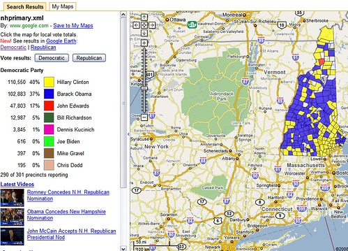 Google Map with NH Results