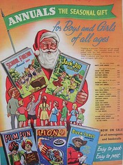 Annuals for Boys and Girls of all ages. Christmas 1956 (Lady Wulfrun) Tags: santa christmas school girls boys magazine comics jones friend seasonal lion gift 1956 adventures buck jackandjill annuals everybodys
