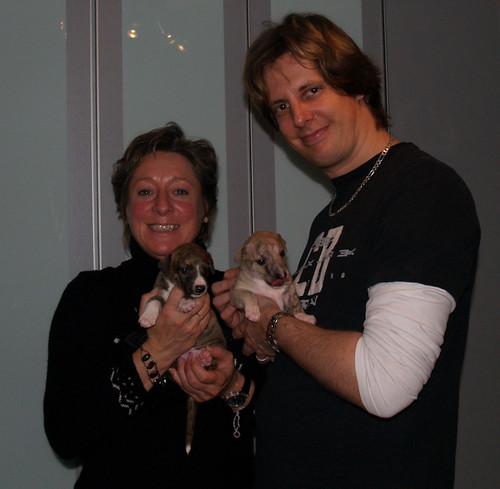 Monique mit Allocco, Andi mit Aguti