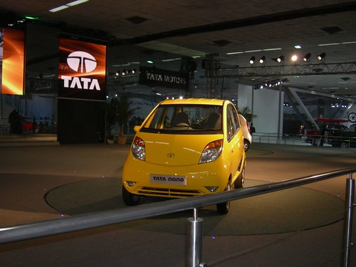 Tata nano yellow
