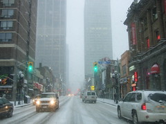 Yonge Street, with snow (phool 4  XC) Tags: snow toronto canada seasons traffic charles yonge onthejob بيتربروباخر phool4xc