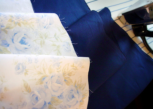 Fabric for home made fabric sewing machine cover