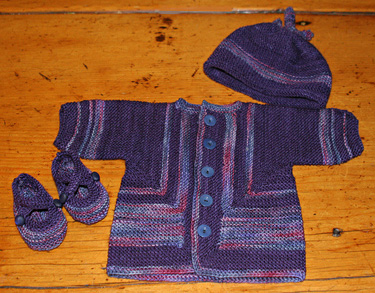 Baby Surprise Jacket with hat and booties