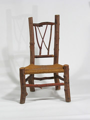 03.05, child's chair, maple, d (Sheridan Rustic Arts) Tags: chair furniture handmade rustic handcrafted stick rushseat mortistenon