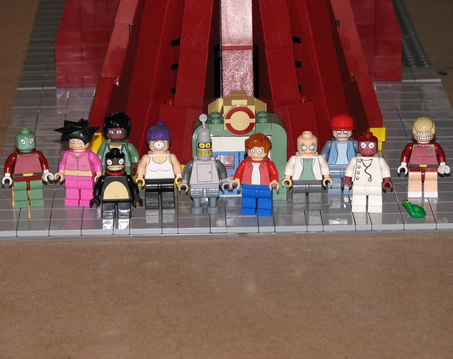 Futurama Lego personajes hipnosapo