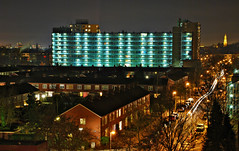 (Phng xinh) Tags: houses building netherlands night streetlamps nightscene groningen